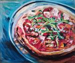 La pizza, huile, 60X50 cm