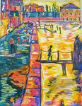 Si Venise m'était contée, pastel gras et encre, 65X45 cm