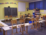 Klassenraum in der Grundschule