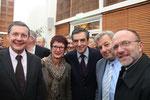 Les conseillers généraux de la Manche (P.Bas, MP Fauvel, E.Beaufils, P.Pillet) qui soutiennent François Fillon à Saint-Lô, 12.10