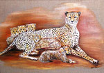 Gepardenfamilie - verkauft -