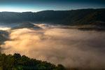 Naturpark Obere Donau am Rauen Stein mit Nebel
