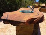 Cork oak table