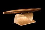 Surfboard-table, Am.Walnut & Maple