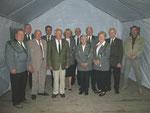 Geehrte für 40jährige Mitgliedschaft im SV Eimen