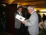Silberne Ehrennadel des Niedersächsischen Sportschützenverbandes für Wilhelm Ude