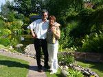Karin und Wilhelm Ude: Garten mit Teich
