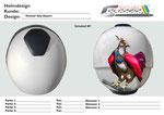 Fantasy Rooster mit pers. Elementen Digital erstellte Visualisierung der Kundenidee
