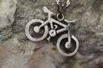 Pendentif argent vélo