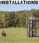 Installations de sculptures en acier