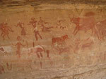 Ca. 5000 Jahre alte Felsenmalereien.