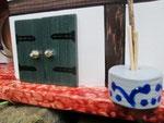 Houten Nestkastje voor Pindakaas pot , Nestkastje, thema, Vakwerk,Vogelhuisje bouwen, vogelhuisje pindakaas pot , vakwerkhuisje_16