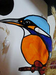 Houten Nestkastje, Nestkastje met IJsvogel, Details, Vogelhuisje bouwen ,  vogelhuisje met ijsvogel _3