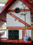 Houten Nestkastje voor Pindakaas pot , Nestkastje, thema, Vakwerk,Vogelhuisje bouwen, vogelhuisje pindakaas pot , vakwerkhuisje_2