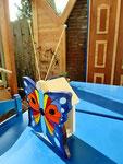 """Houten Nestkastje , """"Nestkastjes in vorm van Vlinder , Details, Vogelhuisje bouwen ,  vogelhuisje vlinder eindresultaat_3"""