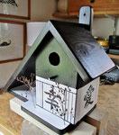 Houten Nestkastje voor Pindakaas pot , Nestkastje, thema, Geluk &Liefde,,Vogelhuisje bouwen, vogelhuisje pindakaas _4