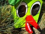 """Houten Nestkastje , """"Nestkastjes in vorm van Vogel groen , Details, Vogelhuisje bouwen als Vogel"""