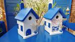 """Houten Nestkastje , """"Nestkastje met Grieks Bistrootje , Details, Vogelhuisje bouwen , vogelhuisje met Grieks Bistrootje, Huisjes details"""