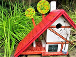 Houten Nestkastje voor Pindakaas pot , Nestkastje, thema, Vakwerk,Vogelhuisje bouwen, vogelhuisje pindakaas pot , vakwerkhuisje_4
