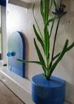 """Houten Nestkastje , """"Nestkastje in Grieks blauw, Details, Vogelhuisje bouwen , vogelhuisje in Grieks blauw, Huisjes details_3"""
