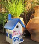 """Houten Nestkastje , """"Nestkastje met Grieks Bistrootje , Details, Vogelhuisje bouwen , vogelhuisje met Grieks Bistrootje, Huisjes details_7"""