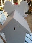 """Houten Nestkastje , """"De Olifant"""", Details, Vogelhuisje bouwen, Vogelhuisje cadeau, achterkant"""