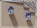 Houten Nestkastje , Grieks Nestkastje met Tekst , Details, Vogelhuisje bouwen ,  Grieks vogelhuisje met tekst , Huisjes details_7