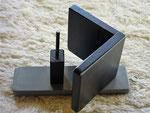 Pindakaas pot houder, model_3, grijs-zwart (2)