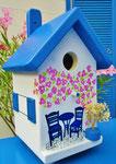 """Houten Nestkastje , """"Nestkastje met Grieks Bistrootje , Details, Vogelhuisje bouwen , vogelhuisje met Grieks Bistrootje, Huisjes details_16"""