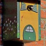 Houten Nestkastje, Nestkastje woudgroen met plat Dak, Details, Vogelhuisje bouwen, vogelhuisje woudgroen met plat dak_4