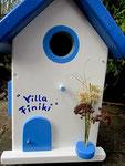 Houten Nestkastje , Grieks Nestkastje met Tekst , Details, Vogelhuisje bouwen ,  Grieks vogelhuisje met tekst , Huisjes details_4