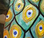 Houten Nestkastje, Nestkastje met Pauw, Details, Vogelhuisje bouwen ,  vogelhuisje met pauw_5