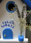 Houten Nestkastje , Grieks Nestkastje met Tekst , Details, Vogelhuisje bouwen ,  Grieks vogelhuisje met tekst , Huisjes details_14