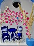 """Houten Nestkastje , """"Nestkastje met Grieks Bistrootje , Details, Vogelhuisje bouwen , vogelhuisje met Grieks Bistrootje, Huisjes details_13"""