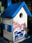 """Houten Nestkastje , """"Nestkastje met Grieks Bistrootje , Details, Vogelhuisje bouwen , vogelhuisje met Grieks Bistrootje, Huisjes details_8"""