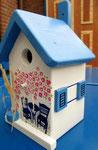"""Houten Nestkastje , """"Nestkastje met Grieks Bistrootje , Details, Vogelhuisje bouwen , vogelhuisje met Grieks Bistrootje, Huisjes details_18"""