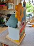 Houten Nestkastje De Kabouter, Details, bouwen, zijkant