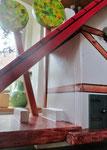 Houten Nestkastje voor Pindakaas pot , Nestkastje, thema, Vakwerk,Vogelhuisje bouwen, vogelhuisje pindakaas pot , vakwerkhuisje_8