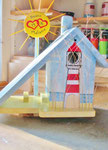 Houten Nestkastje voor Pindakaas pot , Nestkastje, thema, Strand, Vogelhuisje bouwen, vogelhuisje pindakaas pot , strand-huisje_3