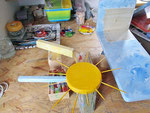 Houten Nestkastje voor Pindakaas pot , Nestkastje, thema, Strand, Vogelhuisje bouwen, vogelhuisje pindakaas pot , strand-huisje_2