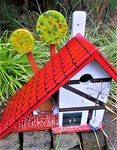 Houten Nestkastje voor Pindakaas pot , Nestkastje, thema, Vakwerk,Vogelhuisje bouwen, vogelhuisje pindakaas pot , vakwerkhuisje_15