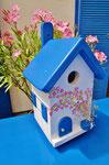 """Houten Nestkastje , """"Nestkastje met Grieks Bistrootje , Details, Vogelhuisje bouwen , vogelhuisje met Grieks Bistrootje, Huisjes details_6"""
