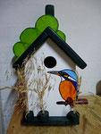 Houten Nestkastje, Nestkastje met IJsvogel, Details, Vogelhuisje bouwen ,  vogelhuisje met ijsvogel _2