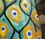 Houten Nestkastje, Nestkastje met Pauw, Details, Vogelhuisje bouwen ,  vogelhuisje met pauw_9