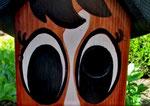 """Houten Nestkastje , """"Nestkastjes in vorm van Paard , Details, Vogelhuisje bouwen , de ogen_1"""