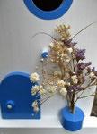"""Houten Nestkastje , """"Nestkastje in Grieks blauw, Details, Vogelhuisje bouwen , vogelhuisje in Grieks blauw, Huisjes details_6"""