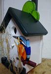 Houten Nestkastje, Nestkastje met IJsvogel, Details, Vogelhuisje bouwen ,  vogelhuisje met ijsvogel _6