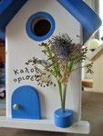 Houten Nestkastje , Grieks Nestkastje met Tekst , Details, Vogelhuisje bouwen ,  Grieks vogelhuisje met tekst , Huisjes details_10
