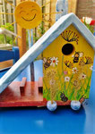 Houten Nestkastje voor Pindakaas pot , Nestkastje, thema, Bijen,Vogelhuisje bouwen, vogelhuisje pindakaas pot , bijen-huisje_24
