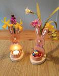 houten sfeerlicht paashaas waxinelichtje Pasen